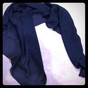 Accessories - Sheer navy blue shawl